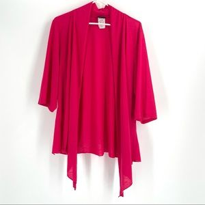 Torrid Bright Pink Open Front Duster Cardigan 4XL